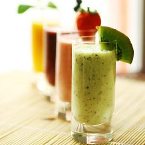 Smoothie melon et kiwi