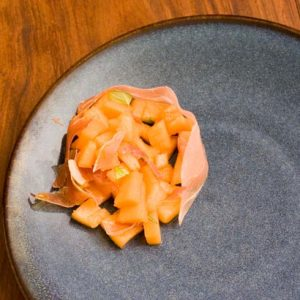 Tartare de melon sucré salé
