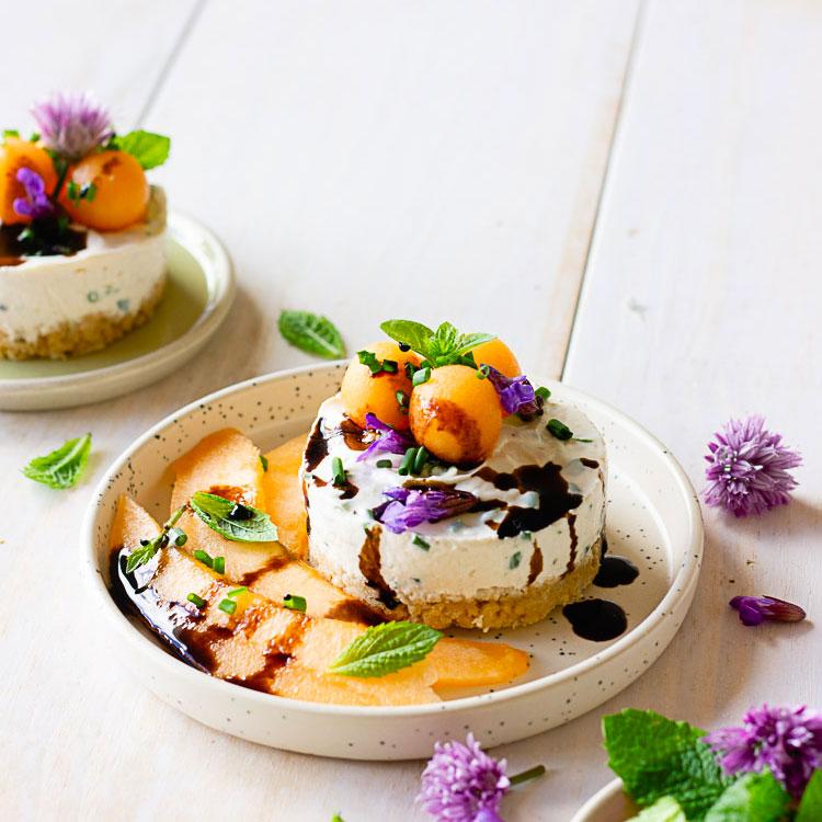 Cheesecake vegan melon et fromage frais
