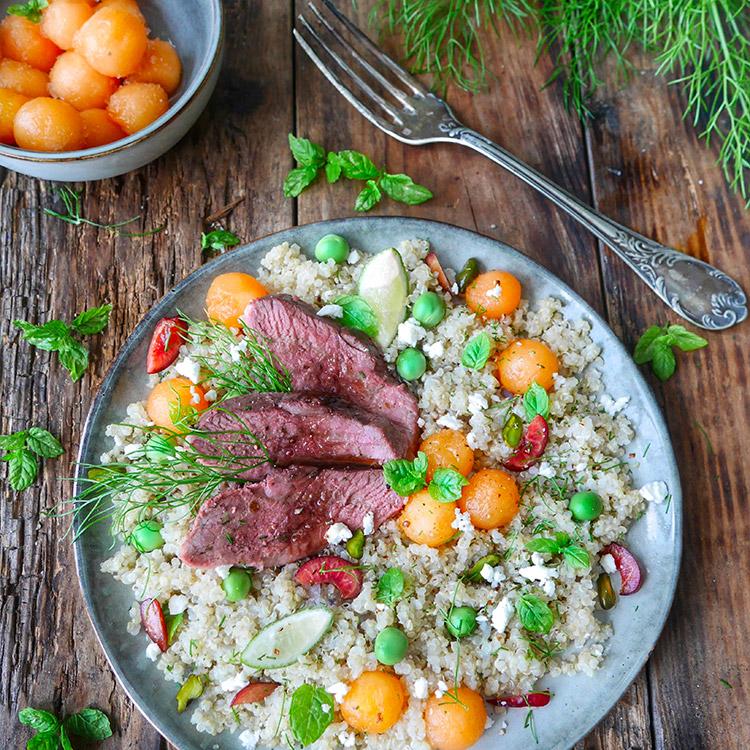Salade Quinoa Maget Melon le Rouge Gorge par Marciatack